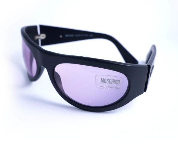 occhiali vintage unisex moschino M3524 wrap frame black