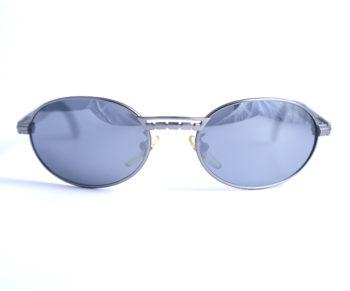 occhiali vintage unisex police 2279 oval frame lenses grey front