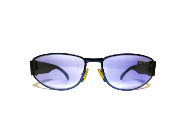 Occhiali vintage replay modello r130s lente azzurra